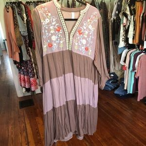 Dresses & Skirts - Mauve Embroidered Dress